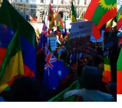 Grand #OromoProtests Global solidarity Rally Held in Melbourne, Australia, 18 August 2016. p3
