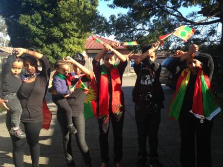 Grand #OromoProtests Global solidarity Rally Held in Melbourne, Australia, 18 August 2016.