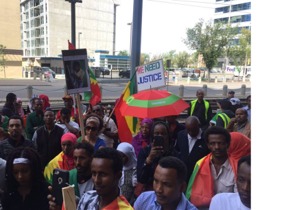 Grand #OromoProtests Global Solidarity Rally in Calgary, Canada on 19 August 2016 p1