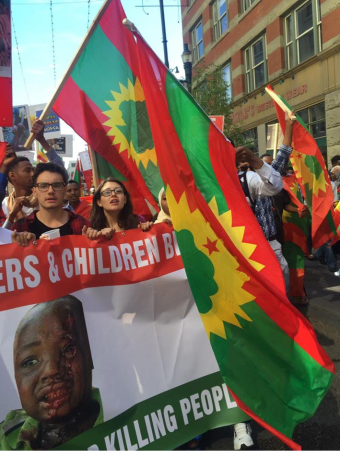 Grand #OromoProtests Global Solidarity Rally in Calgary, Canada on 19 August 2016
