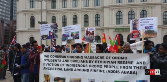 Grand #OromoProtests Global solidarity Rally in Geneva, OMN Reporting, 16 August 2016 p1