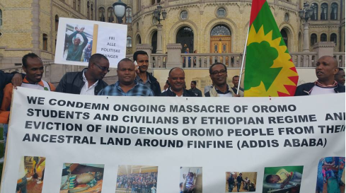 Grand #OromoProtests Global Solidarity Rally in Oslo, Noraway, 19 August 2016 p2