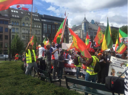 Grand #OromoProtests Global Solidarity Rally in Oslo, Noraway, 19 August 2016