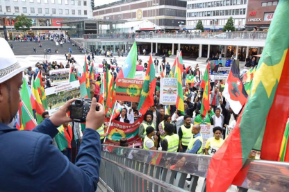 Grand #OromoProtests Global Solidarity Rally in Stockholm, sweden 19 August 2016