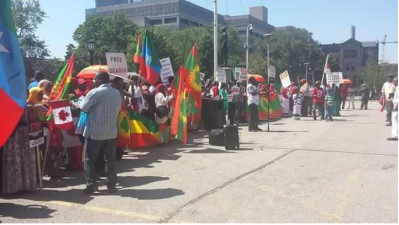 Grand #OromoProtests Global Solidarity Rally in Toronto, Canada on 19 August 2016