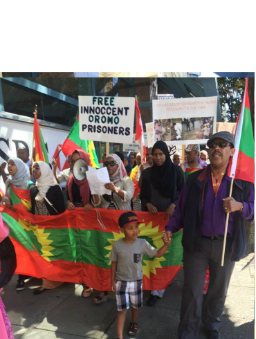 Grand #OromoProtests Global Solidarity Rally in Vancouver, Canada, 19 August 2016 p1
