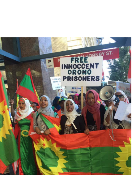 Grand #OromoProtests Global Solidarity Rally in Vancouver, Canada, 19 August 2016