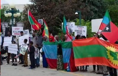 Grand #OromoProtests Global Solidarity Rally in Winnipeg, Manitoba, Canada on 19 August 2016 p1