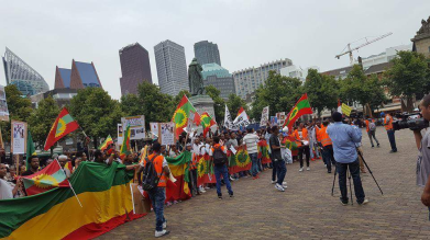 Grand #OromoProtests Global Solidarity Rally Netherlands 19 August 2016