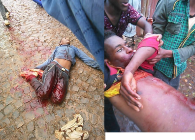 Grand #OromoProtests, Grand ‪#‎OromoProtests‬ full scale Military massacre has been conducted by Ethiopia's fascsit regimei n Naqamte, East Walaga. 6 August 2016 pcture