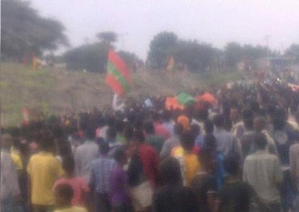 Grand #OromoProtests,Bulbula, East Shawa, Hararge, Oromia. 9 August 2016.