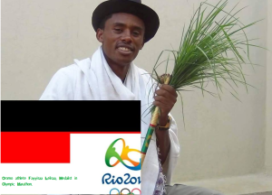 Hero Hero, double hero in Olympic Marathon, Rio 2016 and Oromummaa. Oromo athlete. Fayyisaa Lelisa. p1