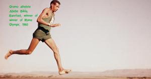 Oromo athlete Abebe Bikila (Abbabaa Biqilaa), barefoot, won Rome Olympic in 1960.