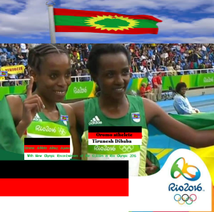 Oromo athlete Almaz Ayana is Olympic Champion with new world record. Tirunesh Dibaba is 3rd at #Rio2016
