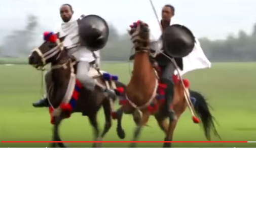 Oromo Horse men, display of bravery and patriotism