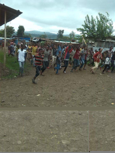 #OromoProtests 1st August 2016 in Baddeessa, Hararghe, Oromia.