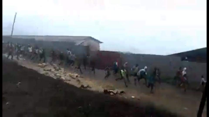 #OromoProtests 1st August 2016 in Dadar, Hararghe, Oromia.TPLF (fascist) Ethiopia's regime forces firing live bullet on protesters