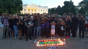#OromoProtests, A candlelight vigil in in front of The White House in honor of innocent peaceful protesters -brutally gunned down in cold blood by Ethiopian government. 12 August 2016