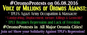 #OromoProtests, #GrandOromiaMarch 6 August 2016, all over Oromia. Dhaadannoo. p1