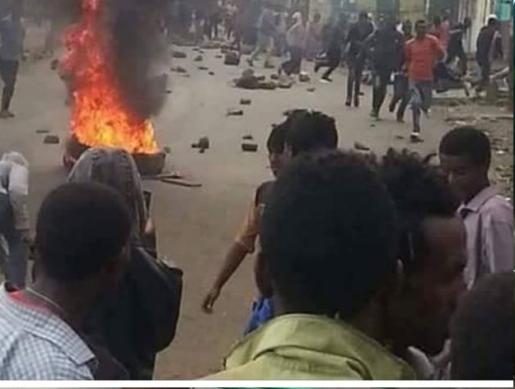 #AmharaProtests, Road blockage against TPLF Agazi