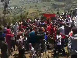 #OromoProtests 2nd September 2016,Qobboo, East Hararge, Oromia, funeral service for Saladin Shakim, who was wounded on the grand rally and died 1st September 2016.