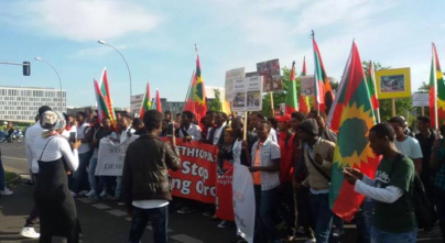 #OromoProtests mass solidarity rally in Berlin, Germany September 2, 2016. p2