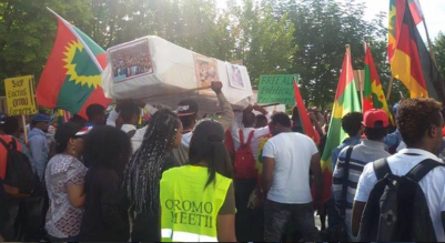 #OromoProtests mass solidarity rally in Berlin, Germany September 2, 2016. p3