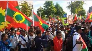 #OromoProtests mass solidarity rally in Berlin, Germany September 2, 2016.