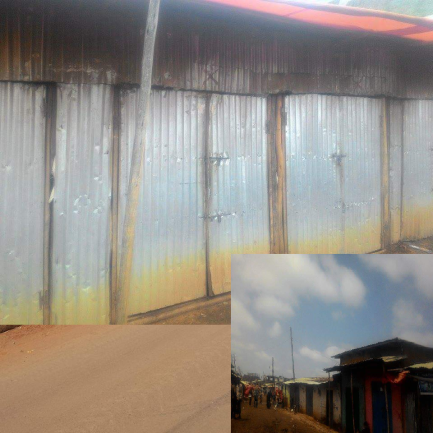 Stores shut their doors in the busy city of Awaday the Khat capital, Oromia, 6 September 2016. #OromoProtests boycott the woyane.