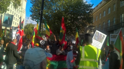 #OromoProtests Global Solidarity Rally in London on 11 October 2016.