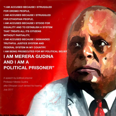 Professor Merera Gudina's speech after the court of Ethiopia denied him hearing. #OromoProtests