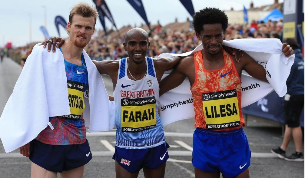 Oromo Olympian Feyisa Lilesa finishes 3rd in the Great North Run Half Marathon.png