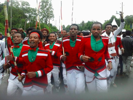 Irreecha Birraa bara 6411 (ALO), Irreecha Birraa Oromoo 2017, Hora Harsadii, Bishoftu Oromia. 1st October colorfully celebrated with millions Oromo people. Happy Irreecha 2017.png