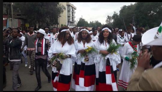 Irreecha Birraa bara 6411 (ALO), Irreecha Birraa Oromoo 2017, Hora Harsadii, Bishoftu Oromia. 1st October colorfully celebrated with millions Oromo people