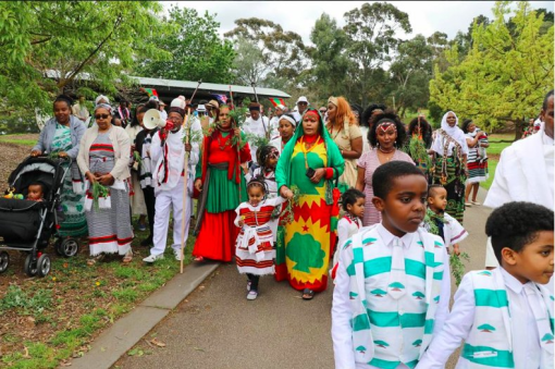 Irreecha Birraa Oromo 2017 celebrated in Melbourne, Australia, 1st October 2017.png