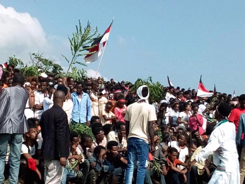 Irreecha Birraa Oromoo 2017 at Mandii, Mana Sibuu, Wallaggaa Oromia, on 15 October 2017