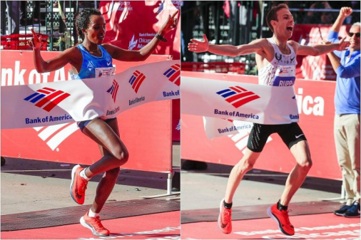 Oromo Olympian Tirunesh Dibaba win the 2017 Women's Chicago Marathon
