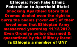 Ethiopia under TPLF rule is Apartheid state