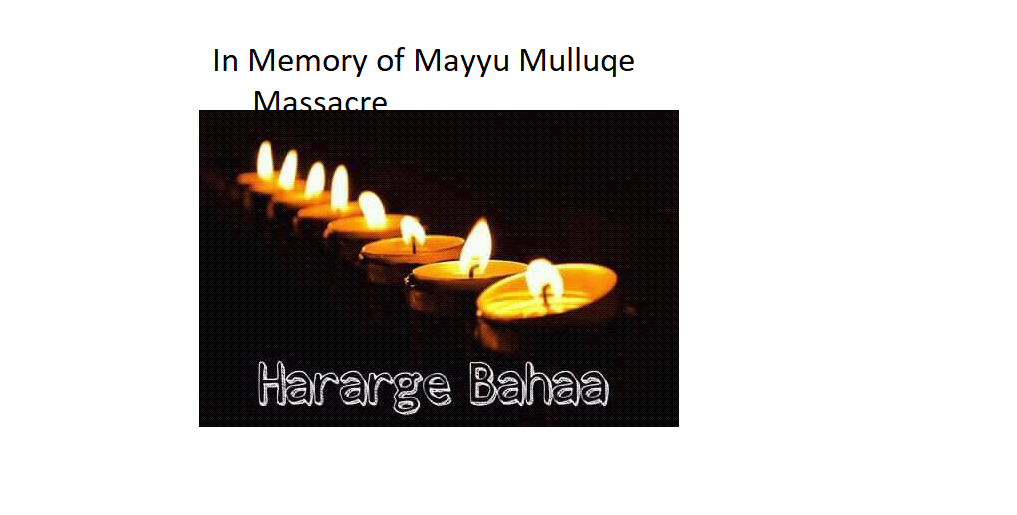 In Memory of Mayyu Mulluqe Massacre, East  Hararghe, Liyu Police killed 37  Oromo civilians.png