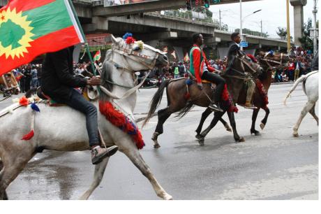 Oromia, FInfinnee, Hulluuqoo Kormaa, Dirree Masqalaa, the Oromo moment celebrating, victory, OLF.  15  September 2018.png
