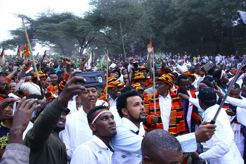 Oromo  and Gaamo people at Irreecha celebration, September 30, 2018 in Bishoftu, Oromia.png