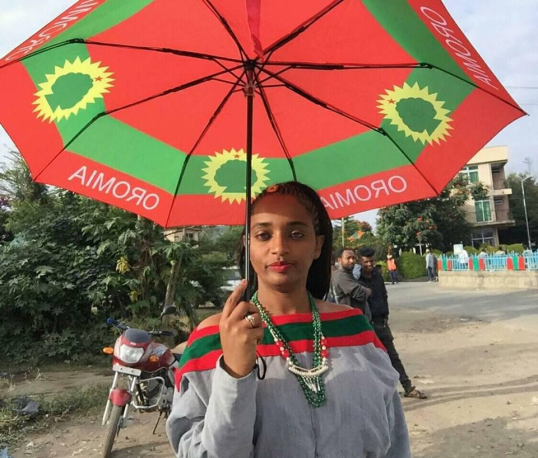 Oromo Artist and Journalist Seena Solomon, Irreecha Birraa celebration, September 30, 2018 in Bishoftu, Oromia.png