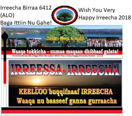 WISH YOU A VERY HAPPY IRREECHA BIRRAA OROMO 2018